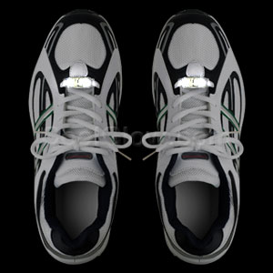 LED Motion Activated Shoe Laces - White