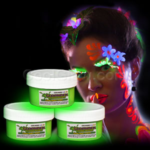 Glominex Glow Body Paint 2oz Jar - Green