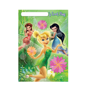 Disney Tinkerbell Folded Loot Bags- 8ct