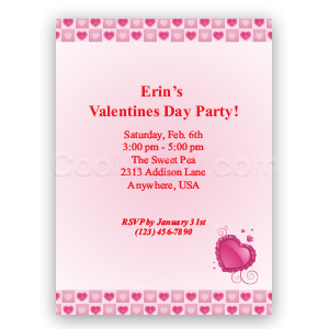 Elegant Hearts- Custom Invitations