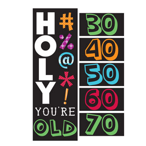Holy Bleep Party Banner - Giant