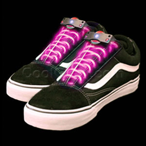 LED Shoe Laces - Pink