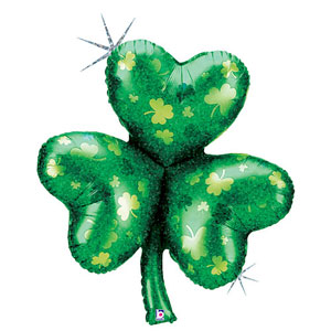 Shamrock Holographic Balloon