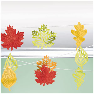 Leaves String Decoration- 100ft