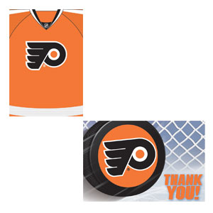 Philadelphia Flyers Invitation and Thank You Card Set- 16ct