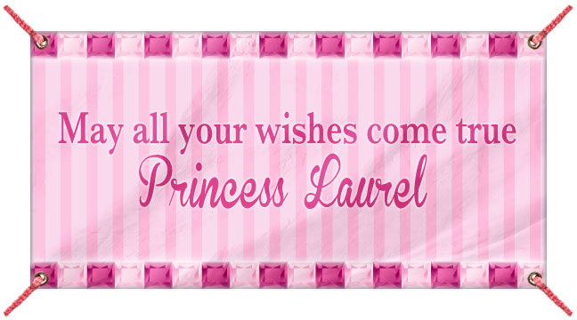 Pink Stripes and Jewels - Custom Banner