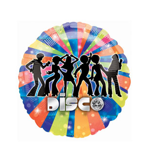 Disco Dancer Metallic Balloon- 18in