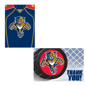 Florida Panthers Invitation and Thank You Card Set- 16ct