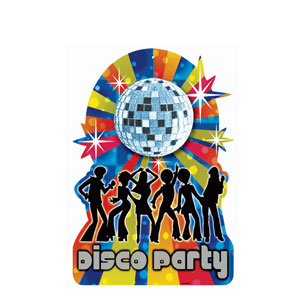 Disco Prismatic Embellished Cutout with Disco Ball- 16in