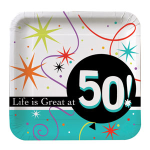 Life is Great at 50 Luncheon Plates - 8ct