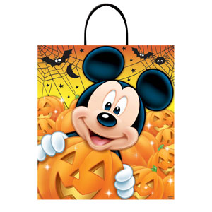 Disney Mickey Mouse Plastic Handle Treat Bag- 16in