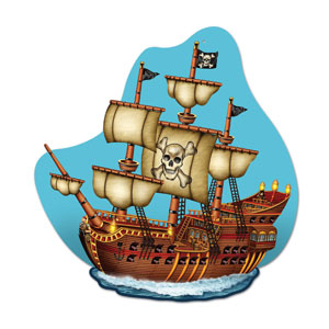 Pirate Ship Wall Plaque - 15inch