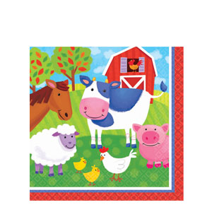 Barnyard Fun Luncheon Napkins- 16ct