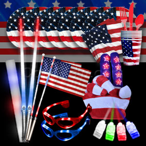 4th of July LED Party Package - Bronze