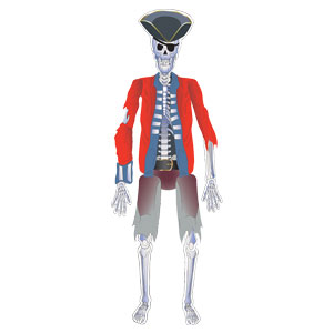 Pirate Jointed Skeleton Cutout