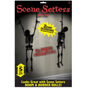 Hanging Skeletons Scene Setter- 65 Inch 2ct
