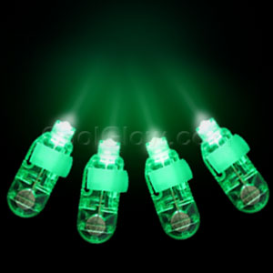 LED Finger Lights - Green 4ct