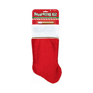 Large Christmas Stocking Decorating Kit- 15 Inch