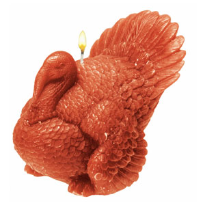 Molded Turkey Candle- 4 Inch