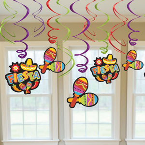 Fiesta Swirl Decorations- 12ct