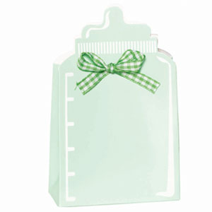 Bottle Baby Shower Favor Box Kit - Green