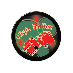 Flashing High Roller Button- 2in