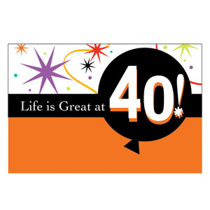 Life is Great at 40 Invitations - 8ct