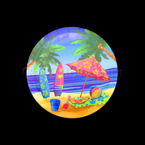 Beach Surf 7 Inch Plates- 8ct