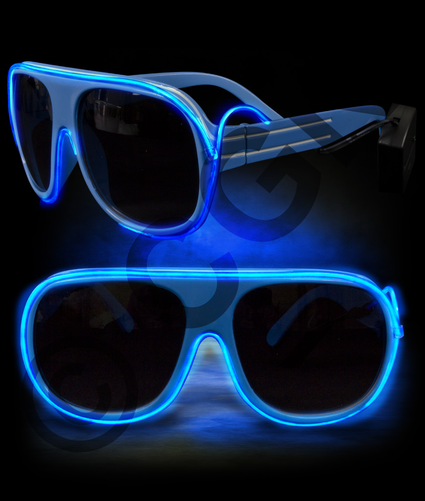 EL Aviator Glasses- Blue