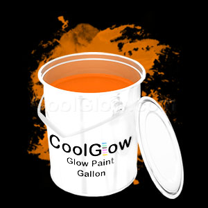 Glow Body Paint Gallon Orange