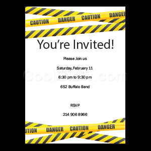 Caution Tape - Custom Invitations