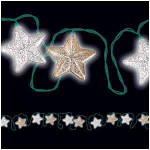Hollywood Glitter Star Electric Lights- 14ft