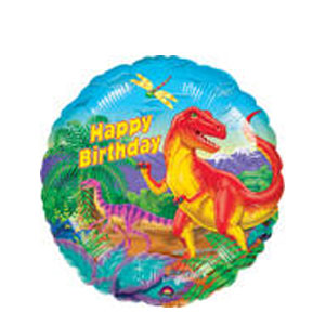Dinosaur Party Birthday Balloon- 18in