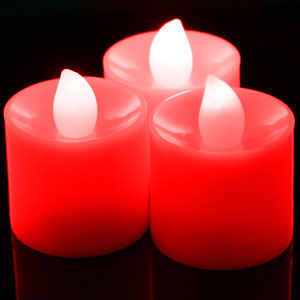 LED Tea Light Candles Red