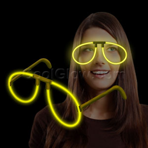 Fun Central H12 Glow in the Dark Eye Glasses - Yellow