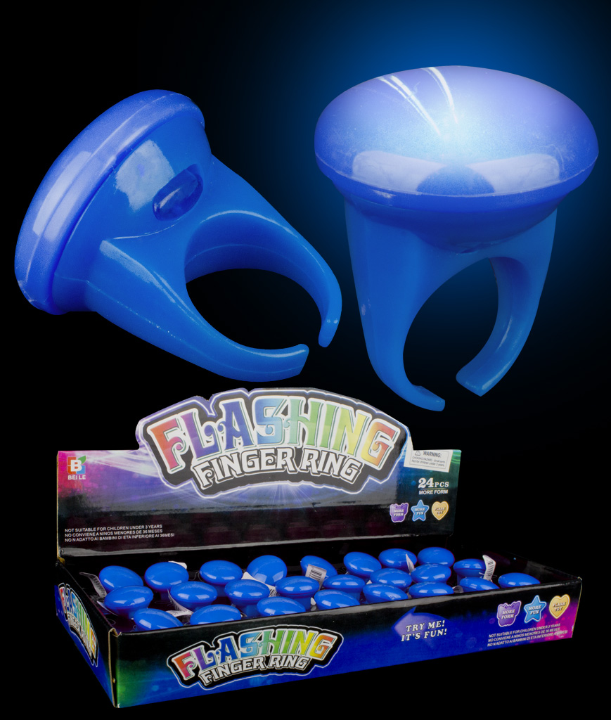 LED Glow Button Rings - Blue