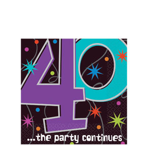 The Party Continues-40 Luncheon Napkins- 16ct