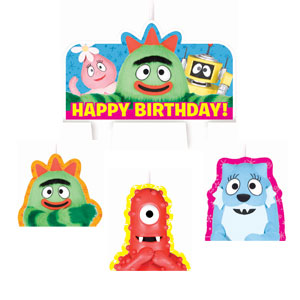 Yo Gabba Gabba Mini Molded Cake Candles- 4ct