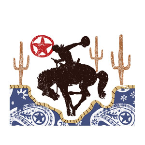 Western Rodeo Cowboy Invitations- 8ct