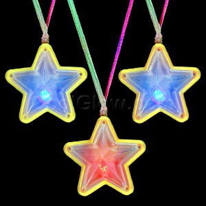 LED Flashing Star Necklaces - Assorted