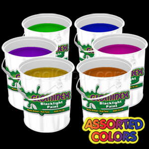 Glominex™ Blacklight UV Reactive Paint Assorted Gallons - 6