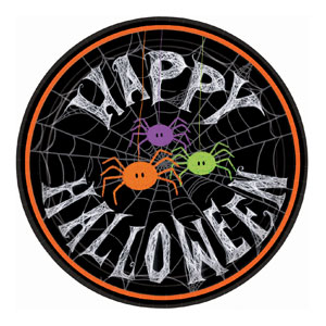 Spider Frenzy 9 Inch Plates- 10ct