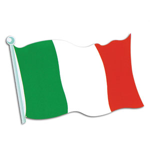 Italian Flag Cutout- 18in