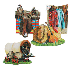 Cowboy Cutouts- 4pc