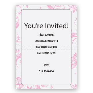 I Love You - Custom Invitations