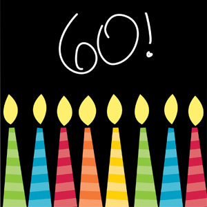 60 Candles Beverage Napkins - 16ct