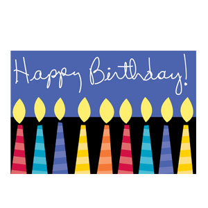 Candles Z-Fold Invitation - 8ct