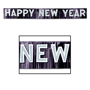 Metallic Happy New Year Banner - 9.5ft