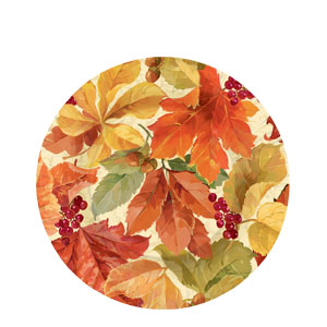 Elegant Leaves 7 Inch Plates