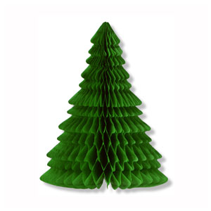 Tissue Christmas Tree Centerpiece - 11in